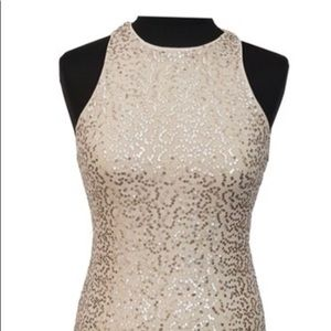 Hollister Dress Size Gold Sequin Bodycon